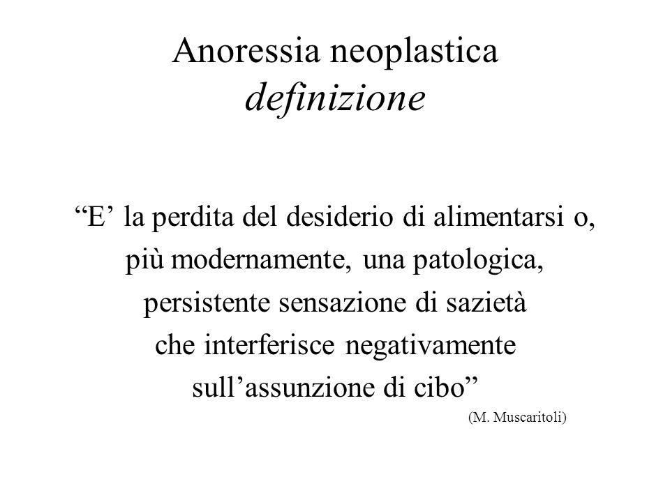 Anoressia neoplastica definizione