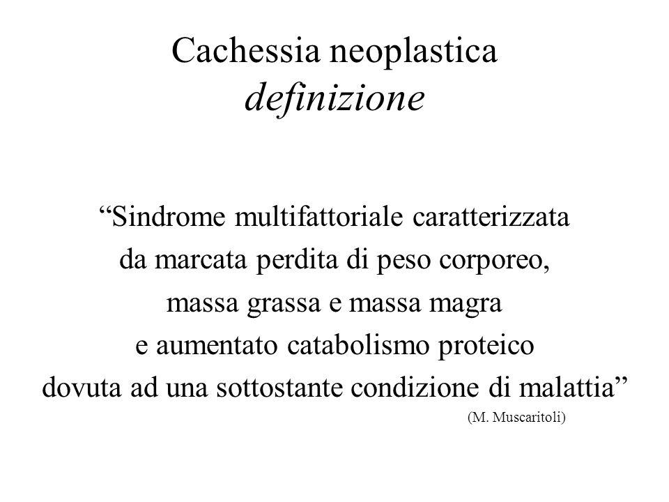 Cachessia neoplastica definizione