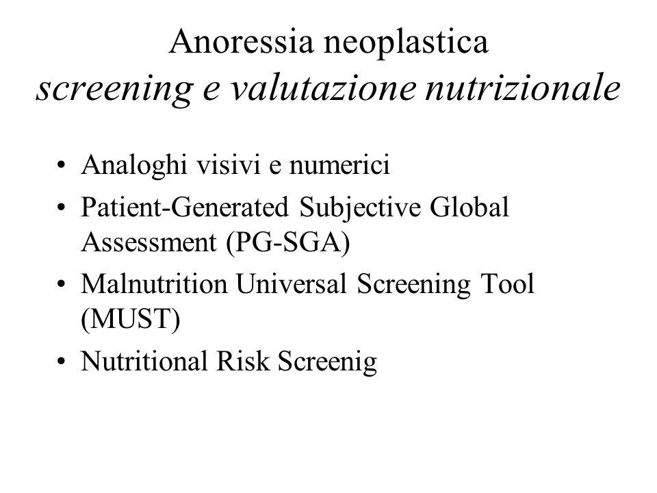 Anoressia neoplastica screening e valutazione nutrizionale