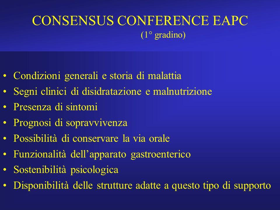 CONSENSUS CONFERENCE EAPC (1° gradino)