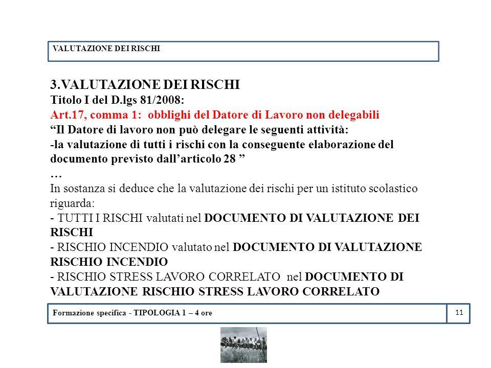 3.VALUTAZIONE DEI RISCHI