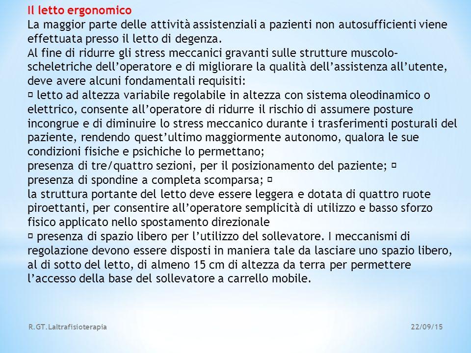presenza di tre/quattro sezioni, per il posizionamento del paziente;