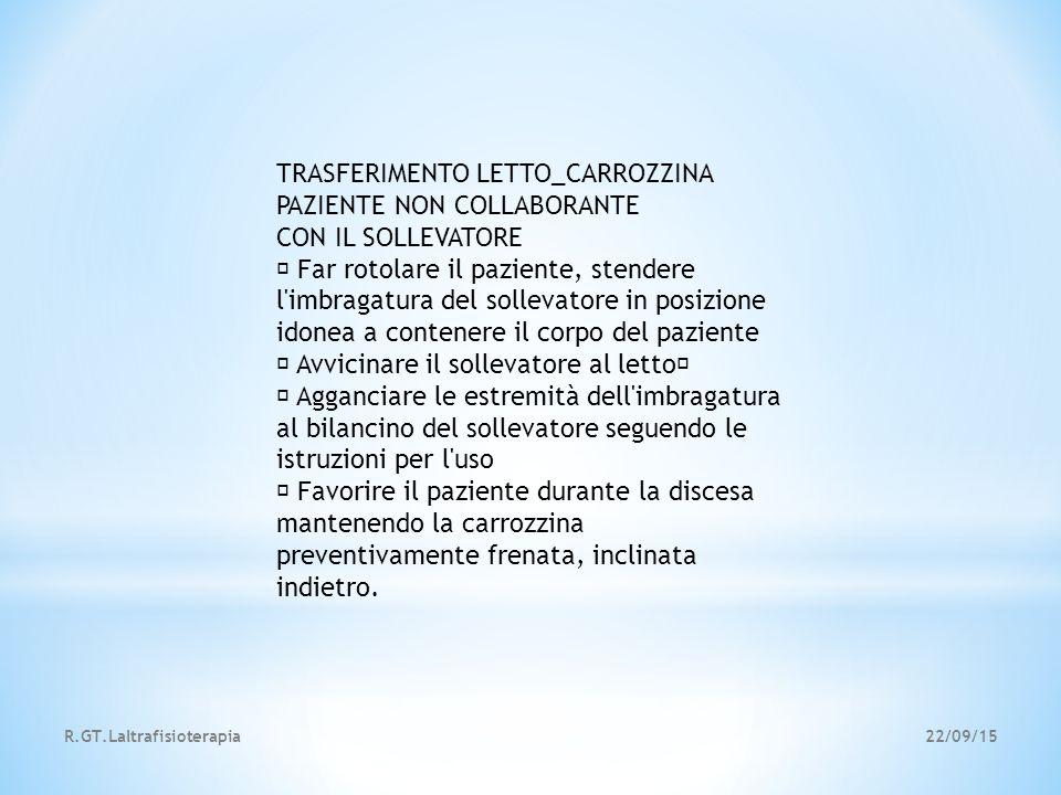 TRASFERIMENTO LETTO_CARROZZINA PAZIENTE NON COLLABORANTE