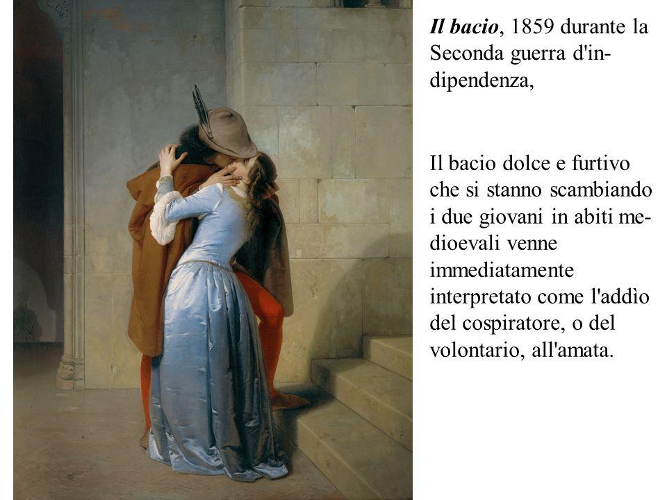 Il bacio, 1859 durante la Seconda guerra d in-