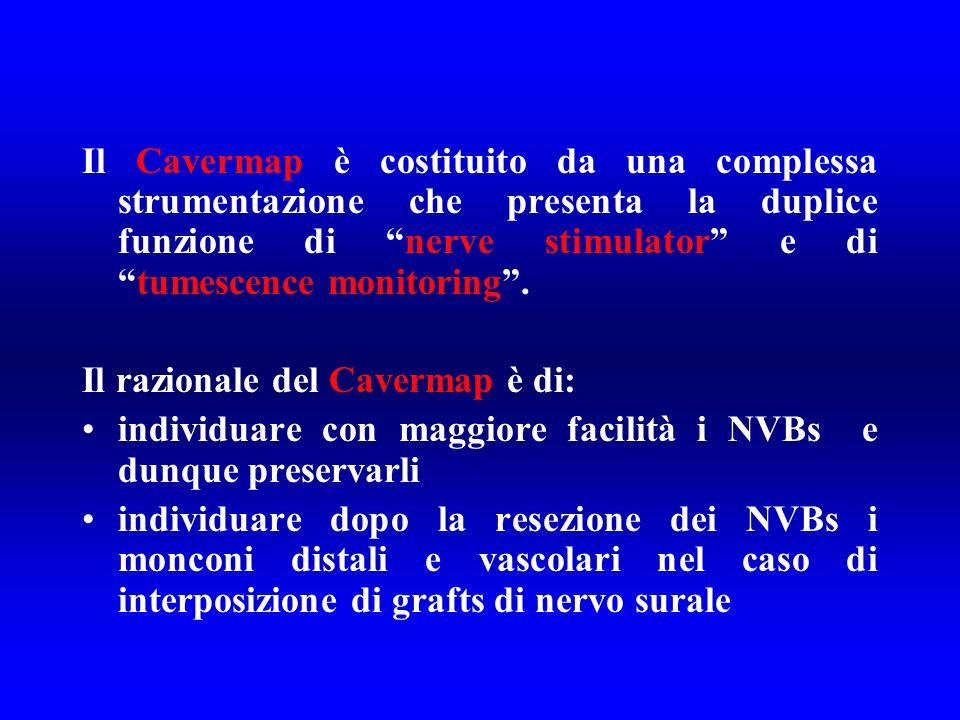 Il Cavermap è costituito da una complessa strumentazione che presenta la duplice funzione di nerve stimulator e di tumescence monitoring .