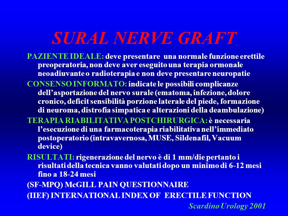 SURAL NERVE GRAFT