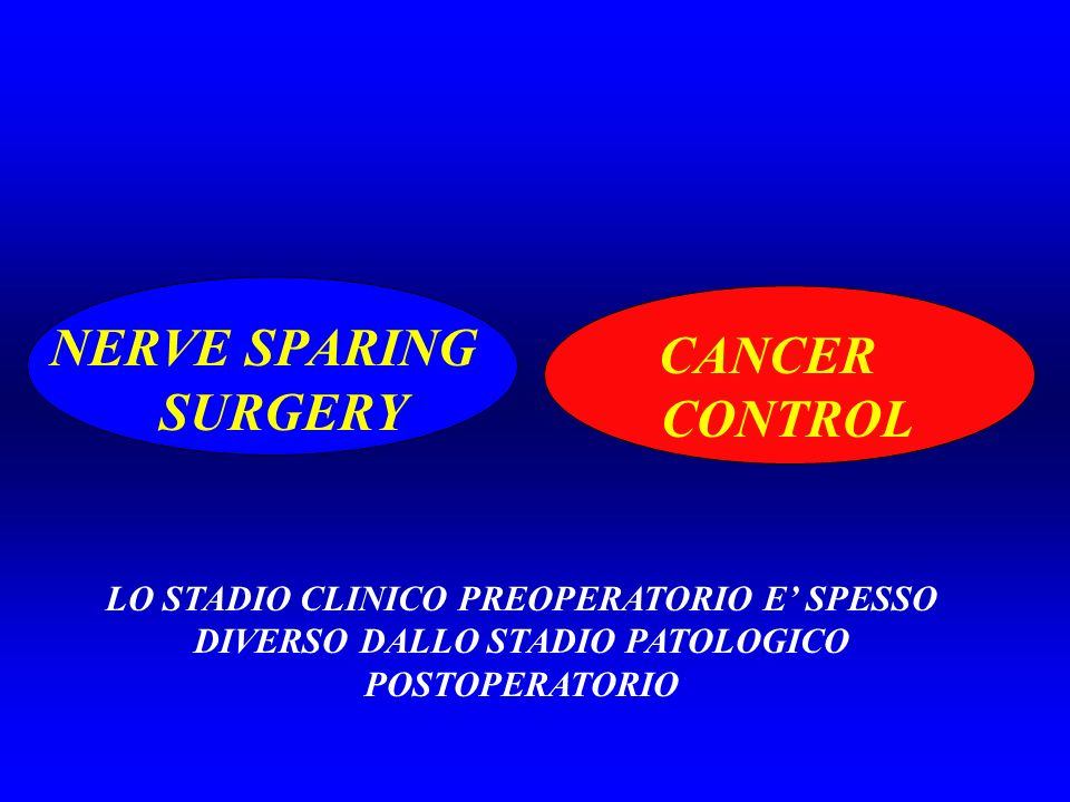 NERVE SPARING SURGERY CANCER CONTROL