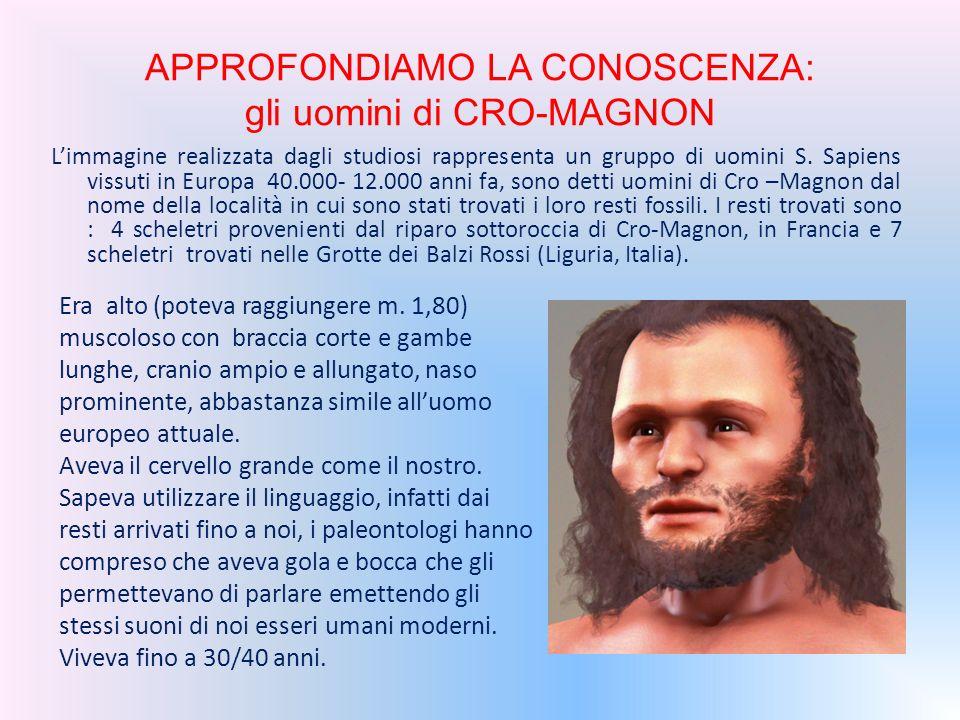 APPROFONDIAMO LA CONOSCENZA: gli uomini di CRO-MAGNON