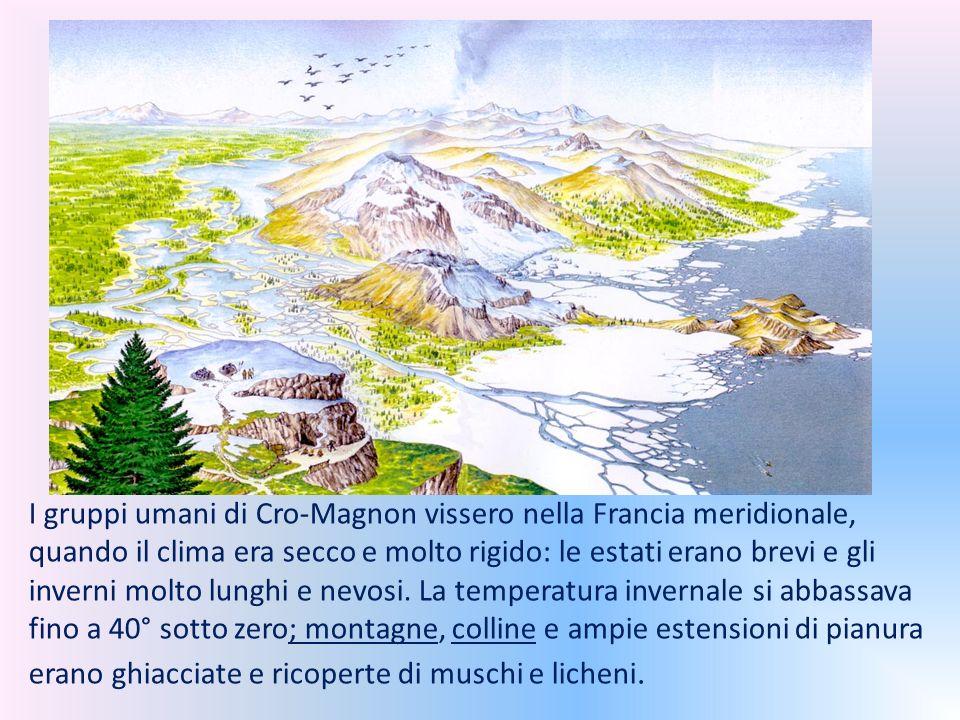 I gruppi umani di Cro-Magnon vissero nella Francia meridionale, quando il clima era secco e molto rigido: le estati erano brevi e gli inverni molto lunghi e nevosi.