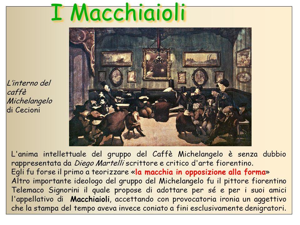 I Macchiaioli L'interno del caffè Michelangelo di Cecioni