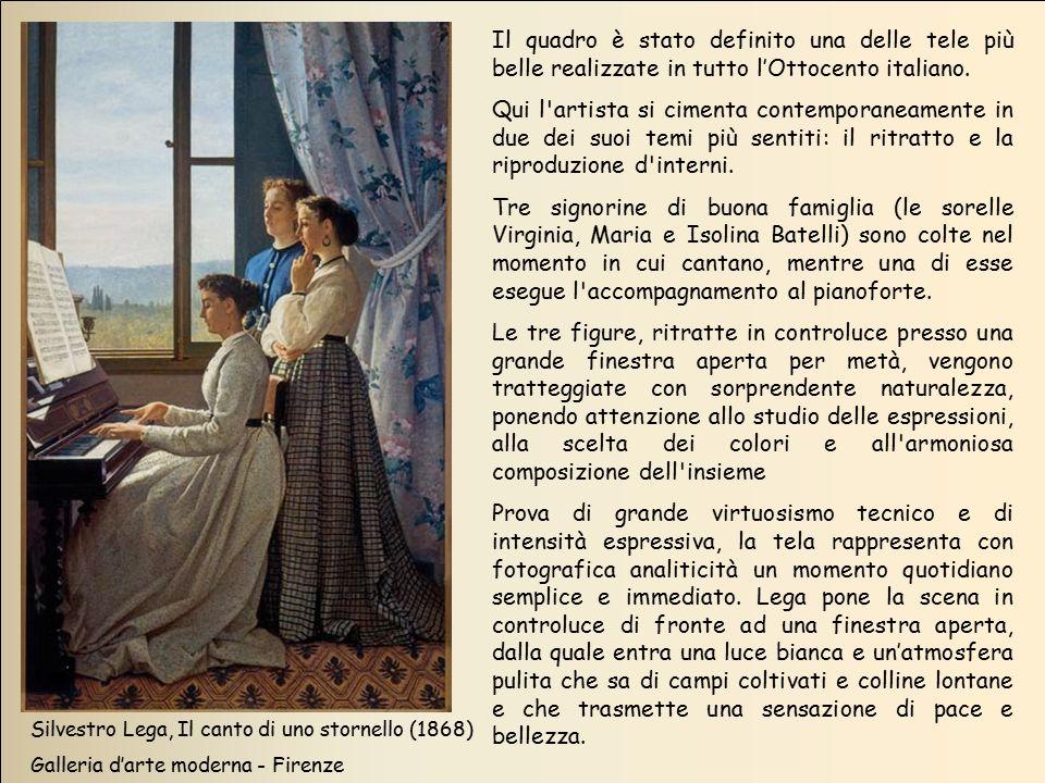 Il quadro è stato definito una delle tele più belle realizzate in tutto l'Ottocento italiano.