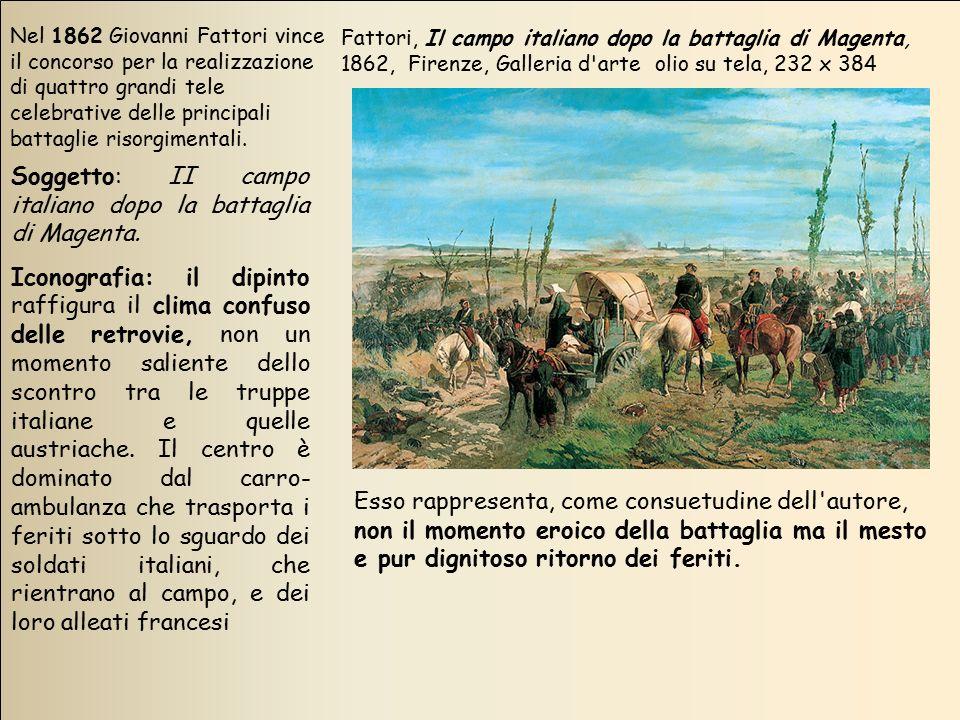 Soggetto: II campo italiano dopo la battaglia di Magenta.