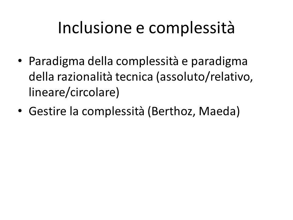 Inclusione e complessità