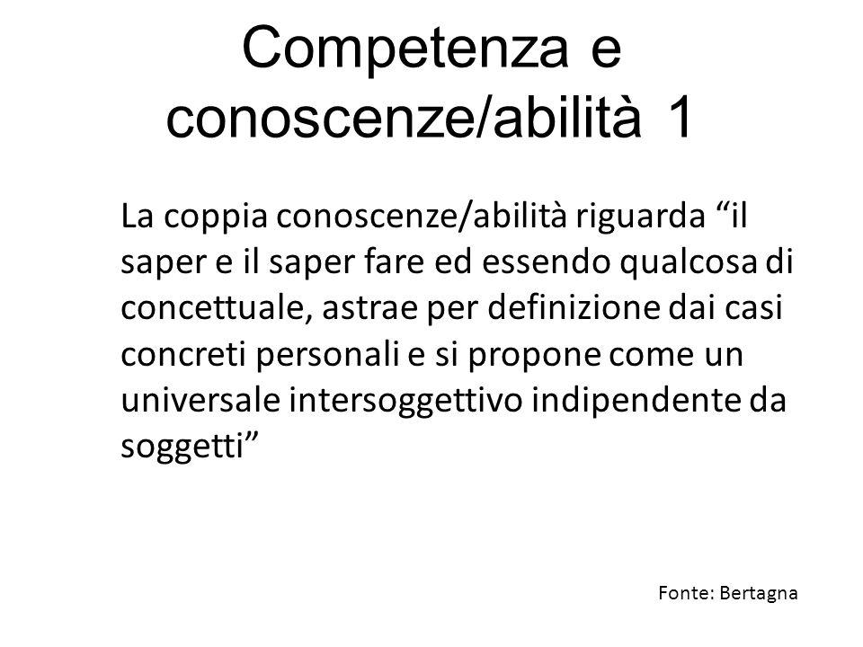 Competenza e conoscenze/abilità 1