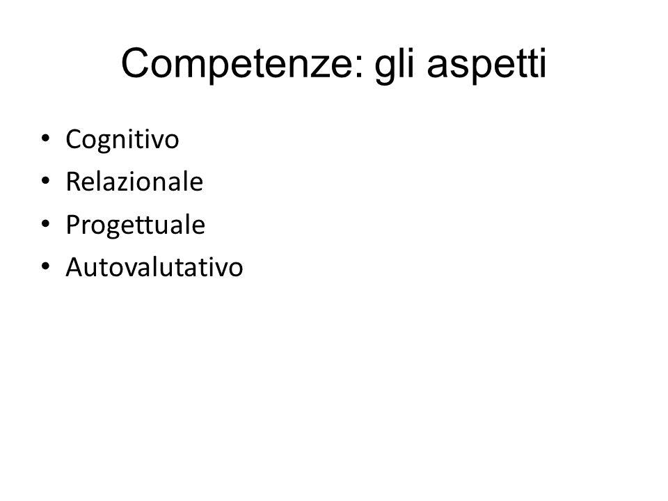Competenze: gli aspetti