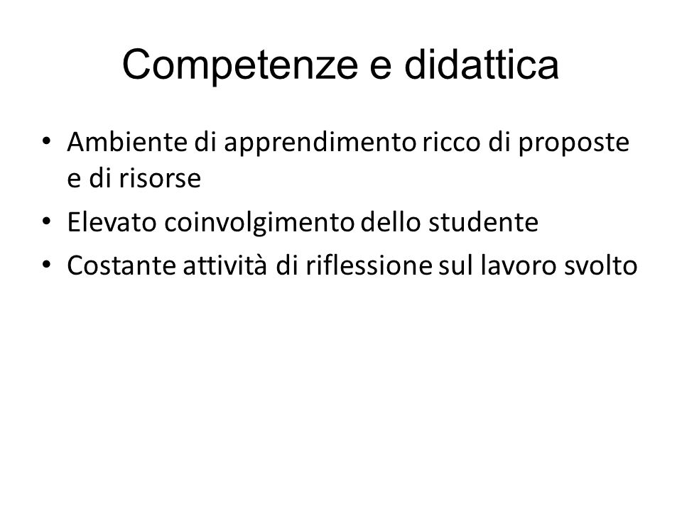Competenze e didattica