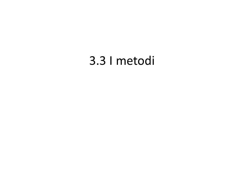 3.3 I metodi