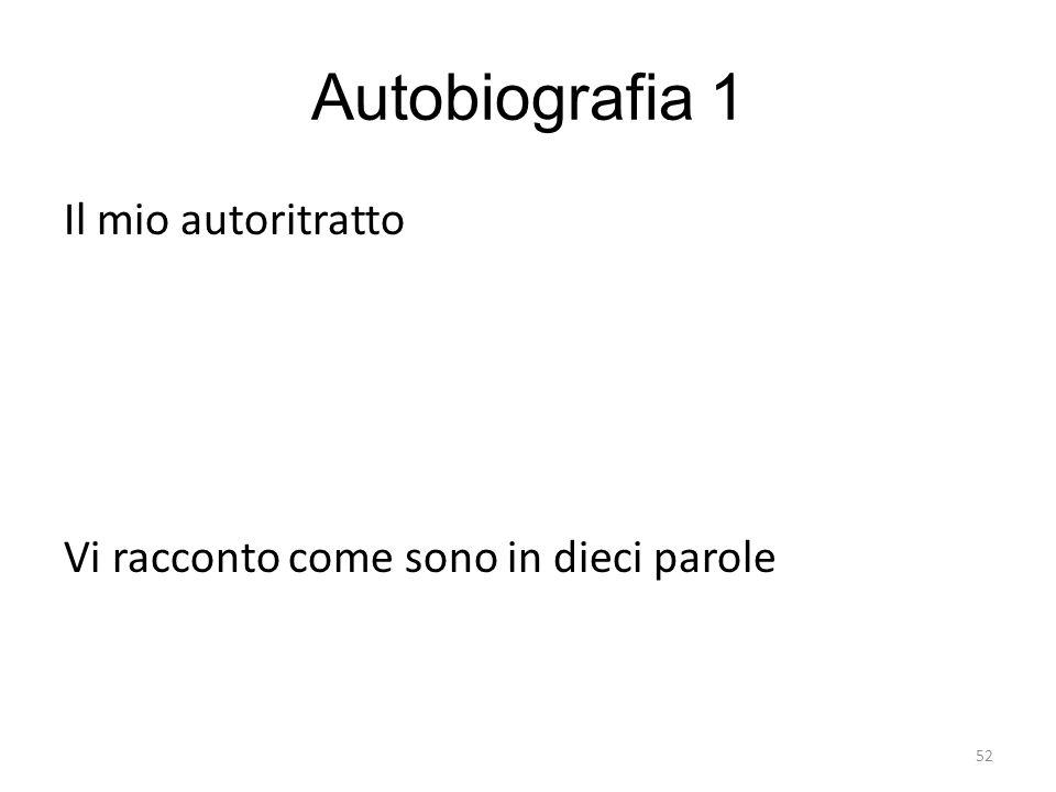 Autobiografia 1 Il mio autoritratto