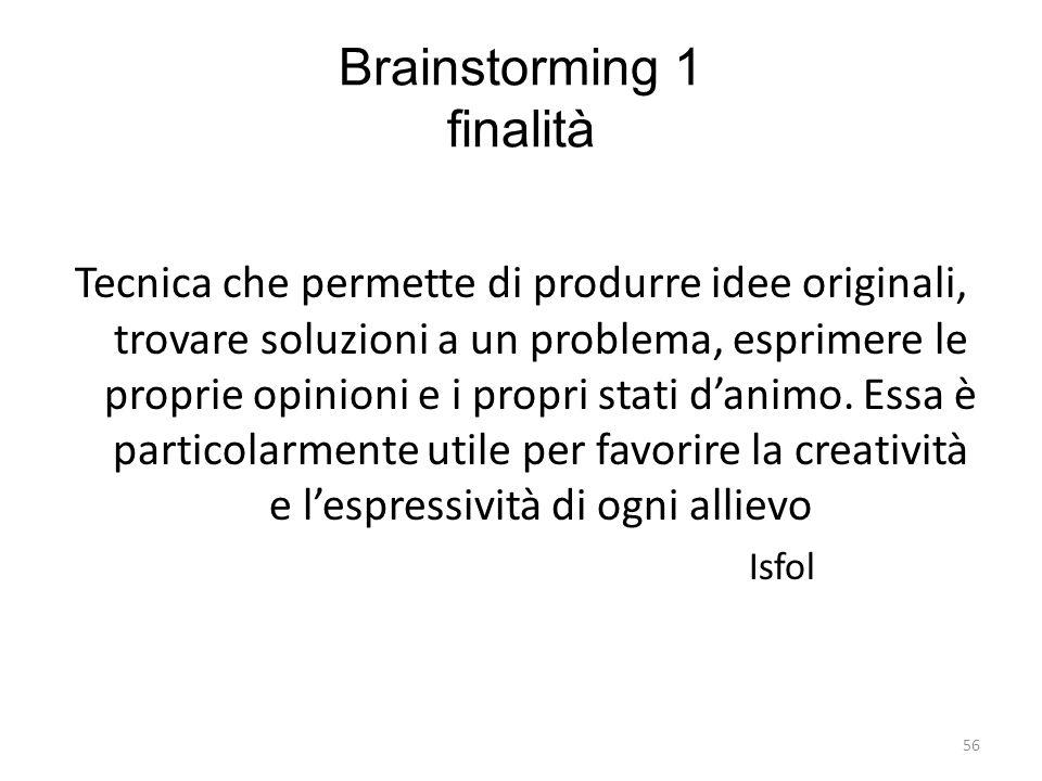 Brainstorming 1 finalità