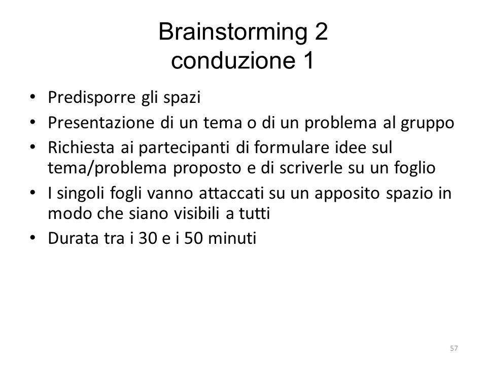 Brainstorming 2 conduzione 1