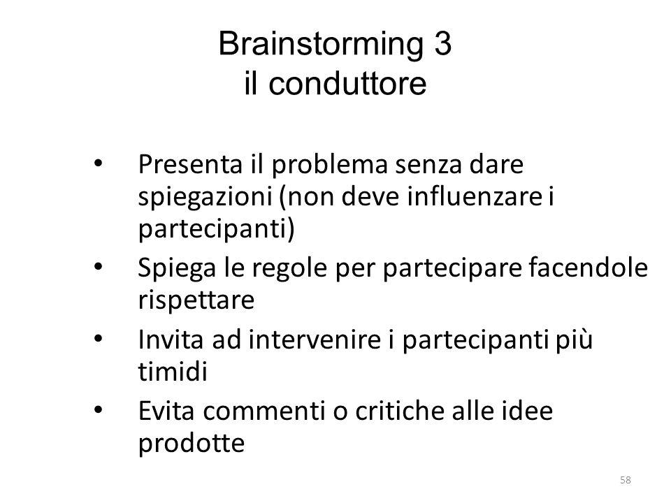 Brainstorming 3 il conduttore