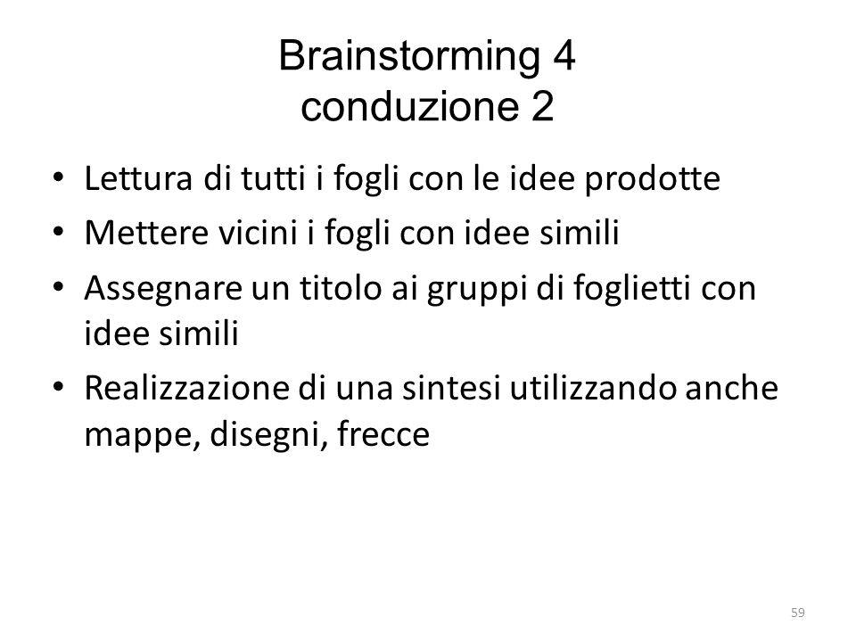 Brainstorming 4 conduzione 2