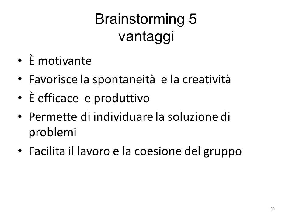 Brainstorming 5 vantaggi