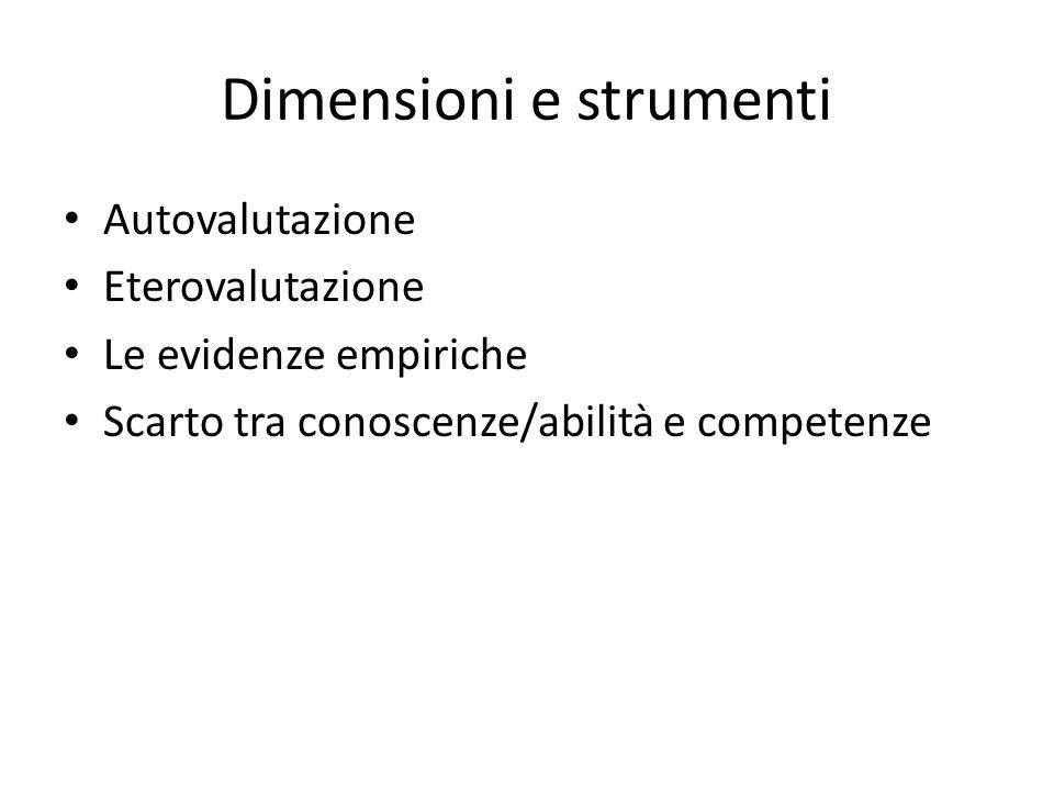 Dimensioni e strumenti