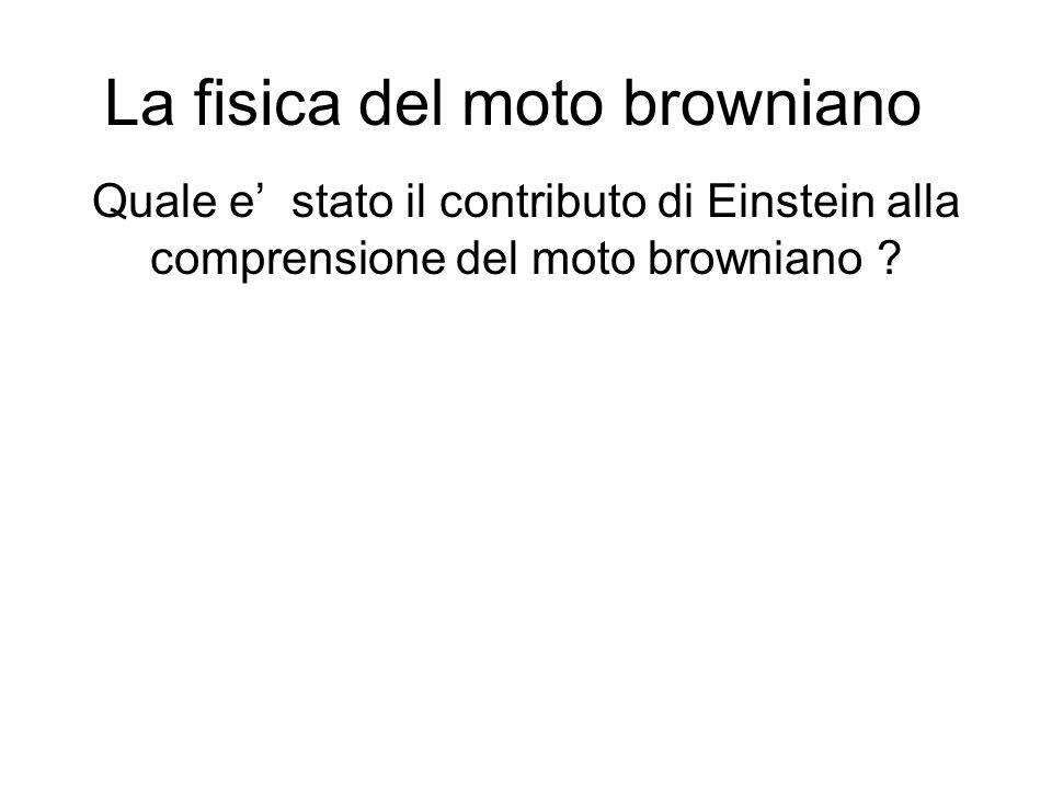 La fisica del moto browniano