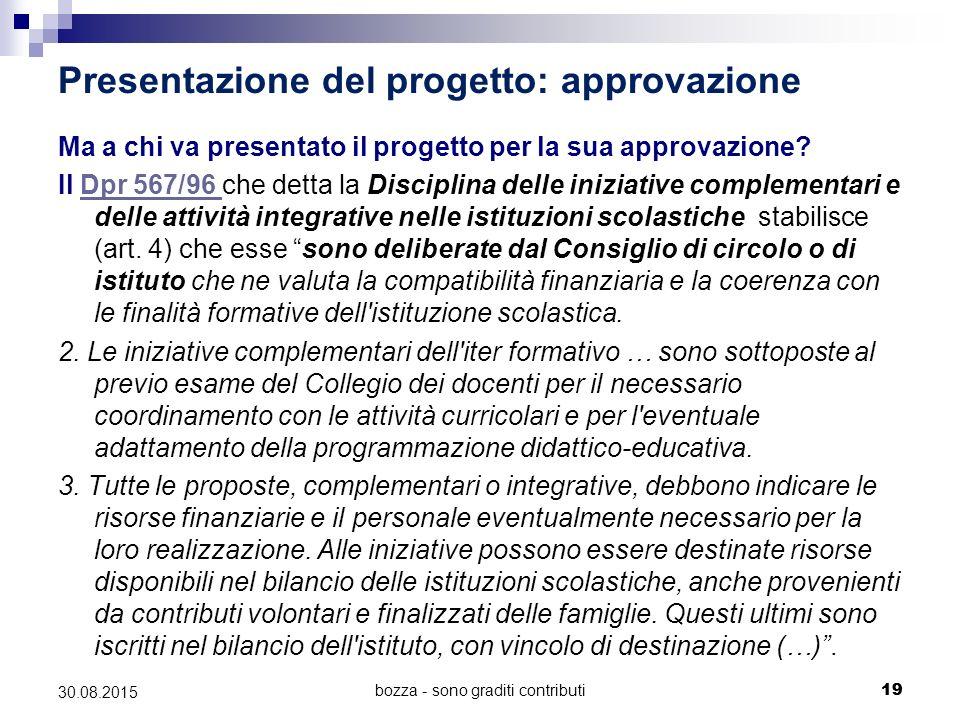 Presentazione del progetto: approvazione