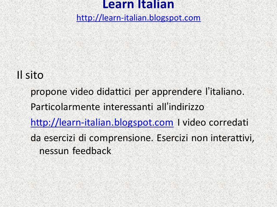 Learn Italian http://learn-italian.blogspot.com