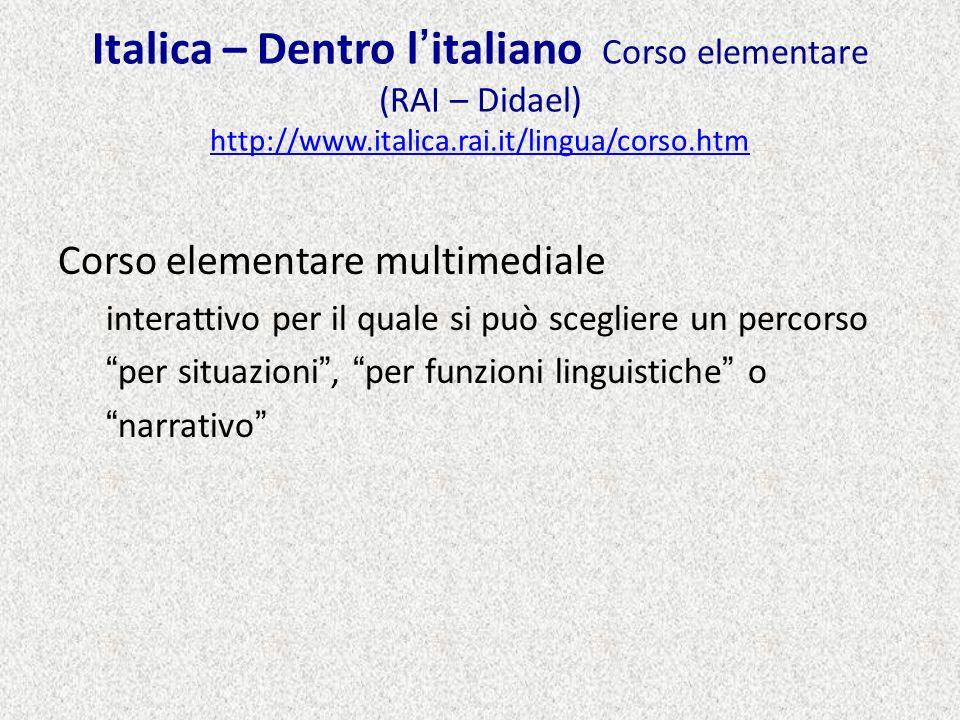 Italica – Dentro l'italiano Corso elementare (RAI – Didael) http://www