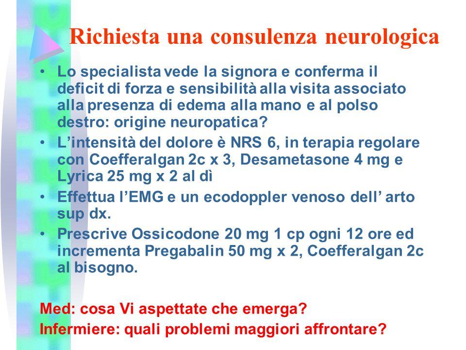 Richiesta una consulenza neurologica
