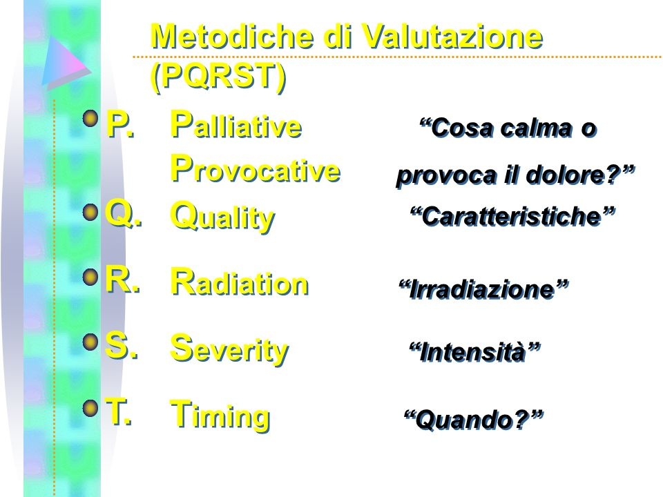 P. Palliative Provocative Q. R. S. T. Quality Radiation Severity