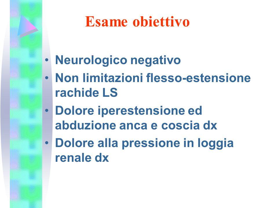 Esame obiettivo Neurologico negativo