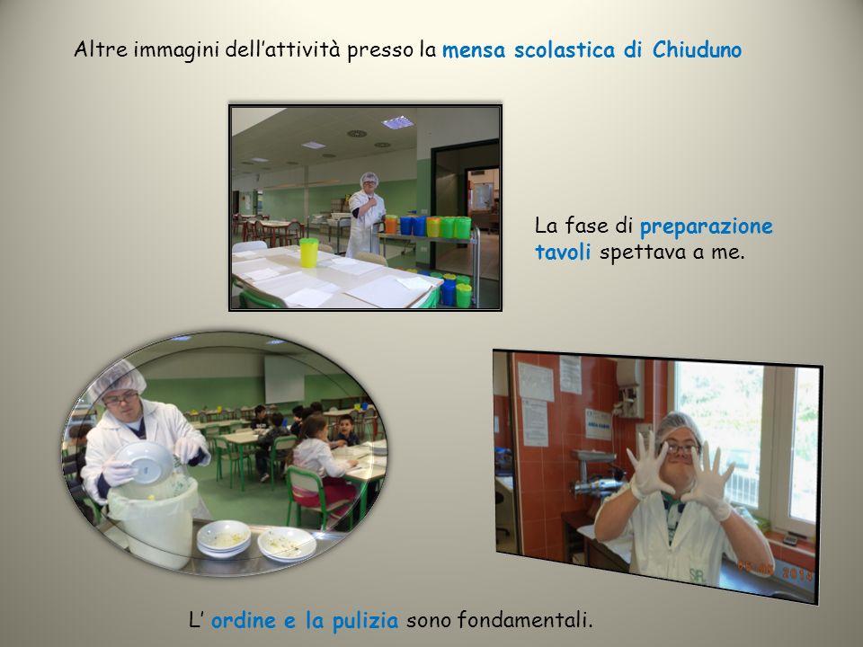 Altre immagini dell'attività presso la mensa scolastica di Chiuduno