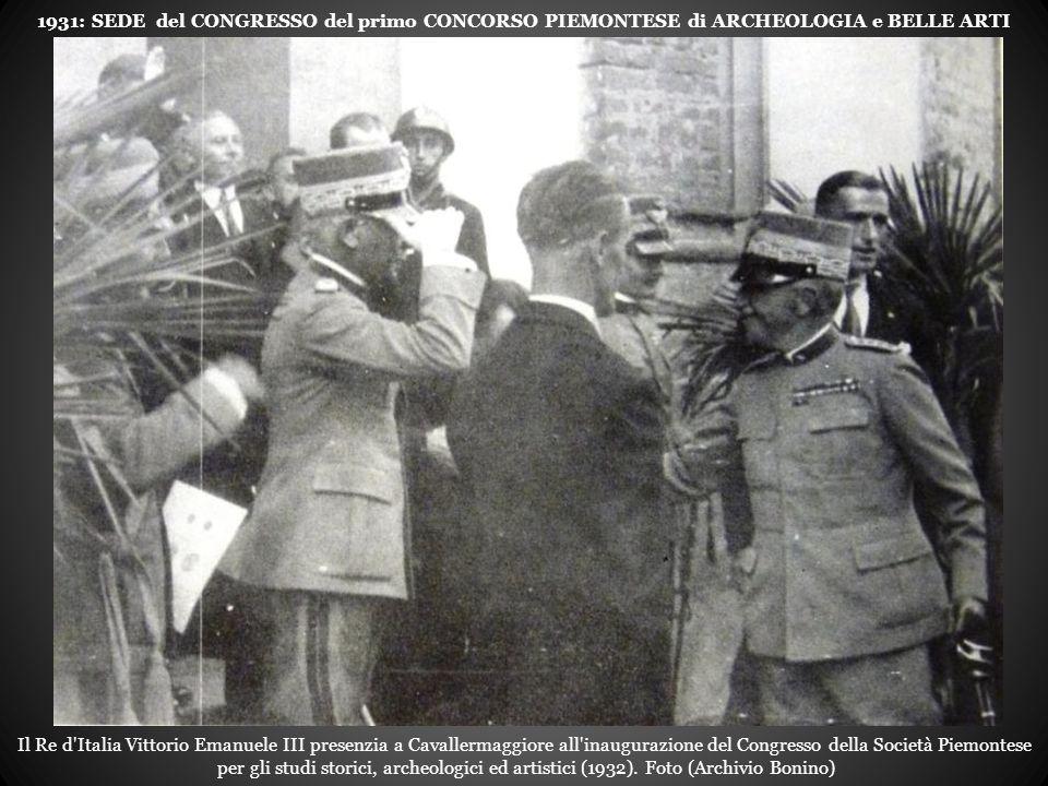 1931: SEDE del CONGRESSO del primo CONCORSO PIEMONTESE di ARCHEOLOGIA e BELLE ARTI