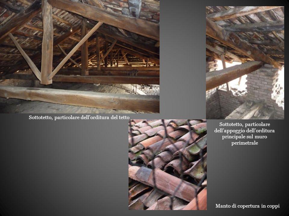 Sottotetto, particolare dell'orditura del tetto