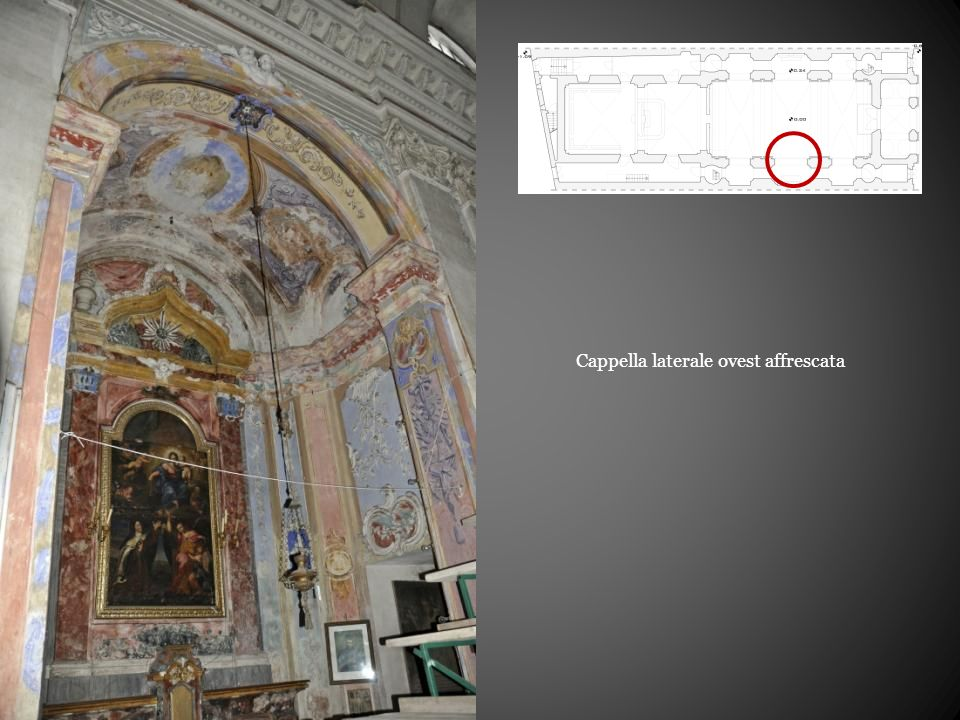 Cappella laterale ovest affrescata