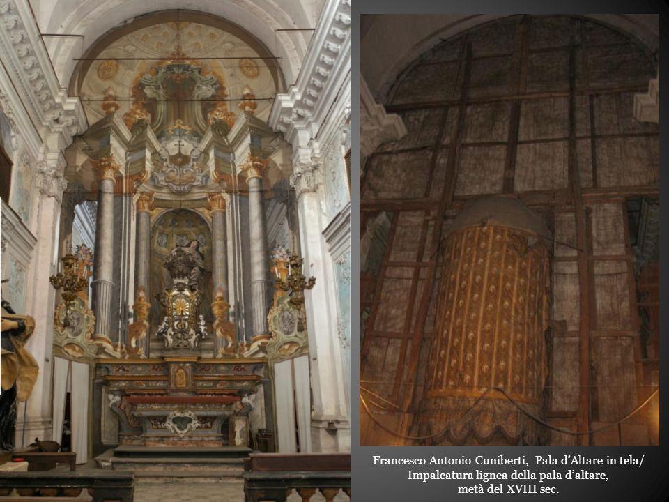 Francesco Antonio Cuniberti, Pala d'Altare in tela/ Impalcatura lignea della pala d'altare,