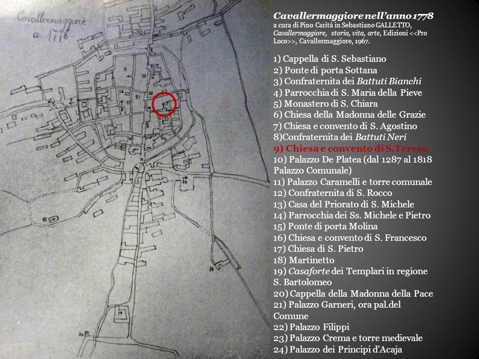 Cavallermaggiore nell'anno 1778