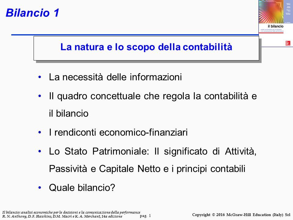 Bilancio 1 La natura e lo scopo della contabilità