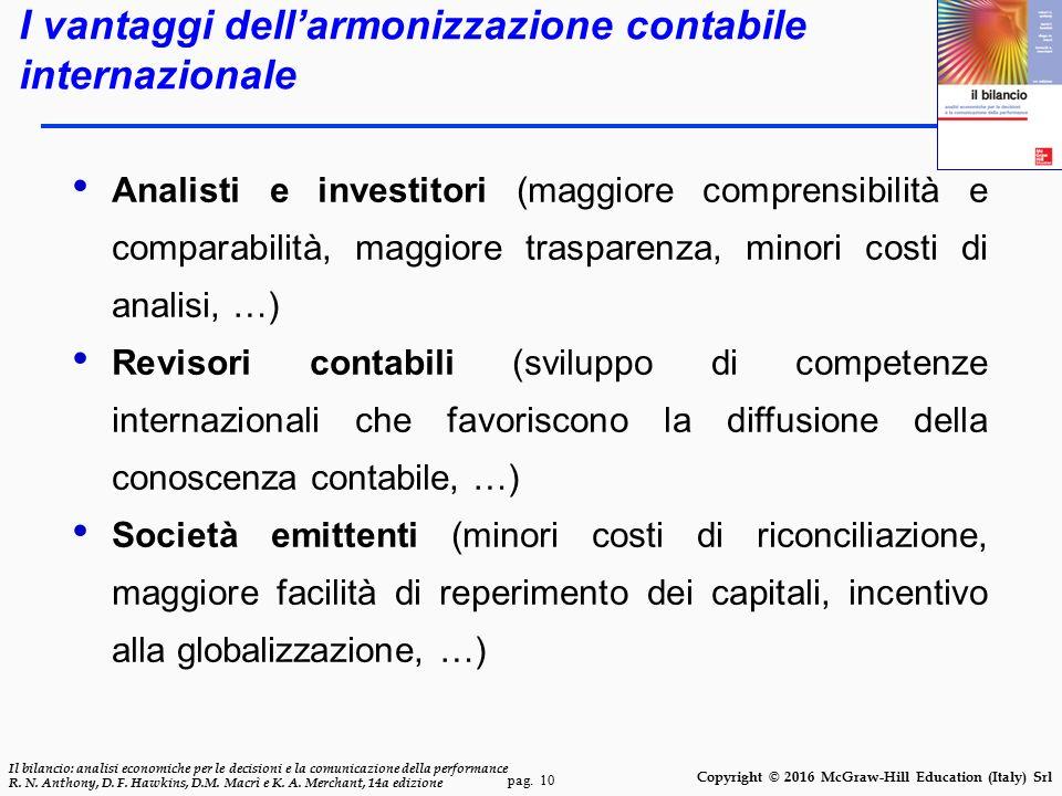 I vantaggi dell'armonizzazione contabile internazionale