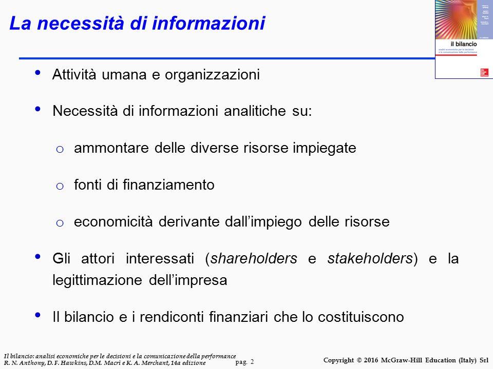 La necessità di informazioni