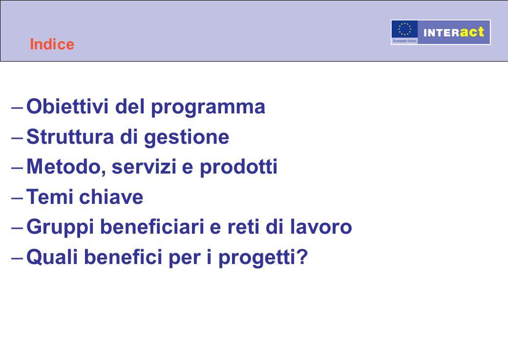 Obiettivi del programma Struttura di gestione