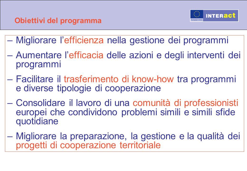 Obiettivi del programma