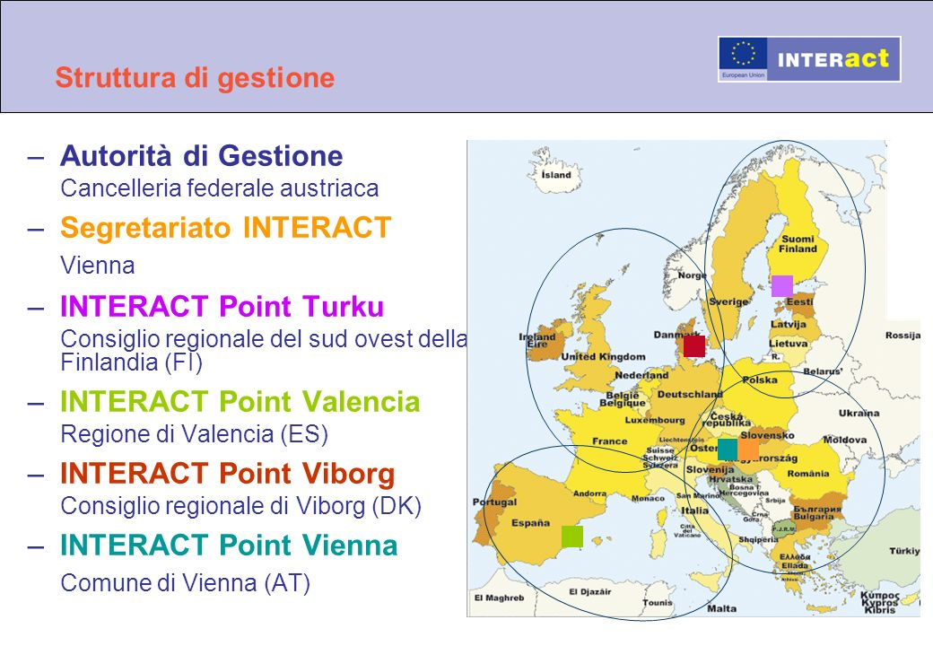 Segretariato INTERACT Vienna INTERACT Point Turku