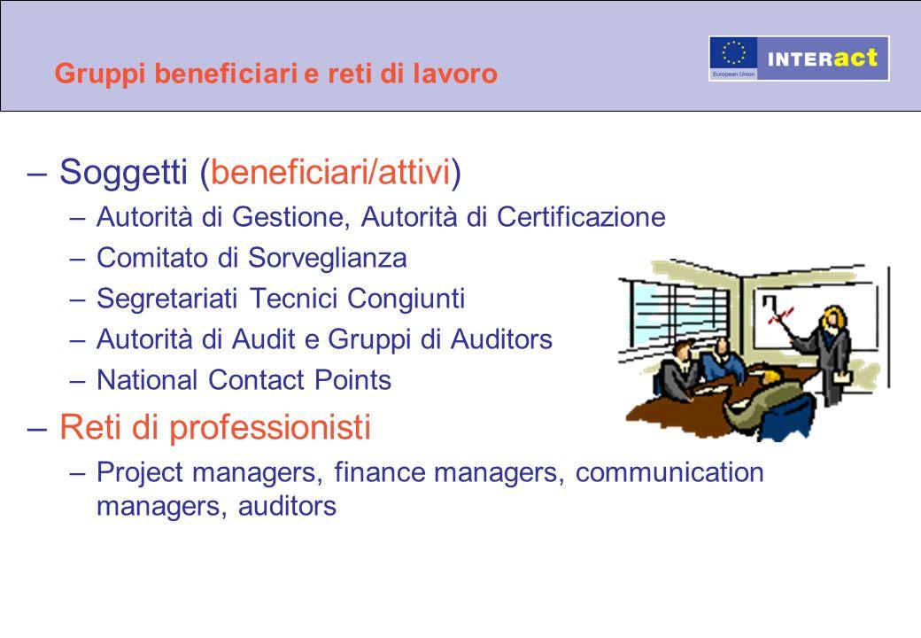 Gruppi beneficiari e reti di lavoro