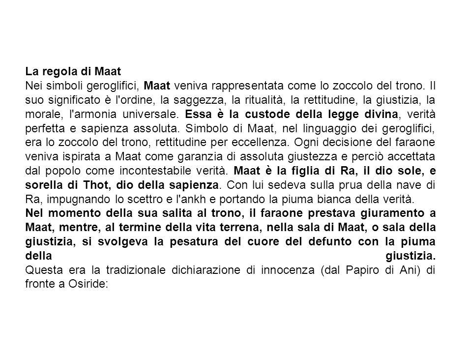 La regola di Maat