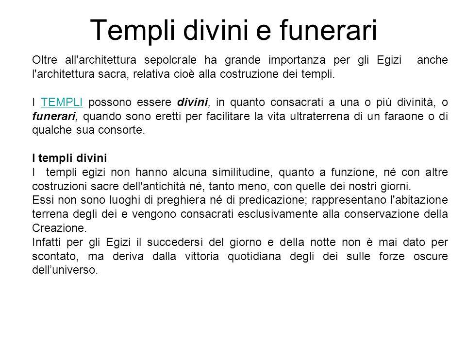 Templi divini e funerari